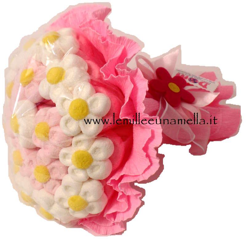 BOUQUET DI MARGHERITE MARSHMALLOW GRANDE ROSA