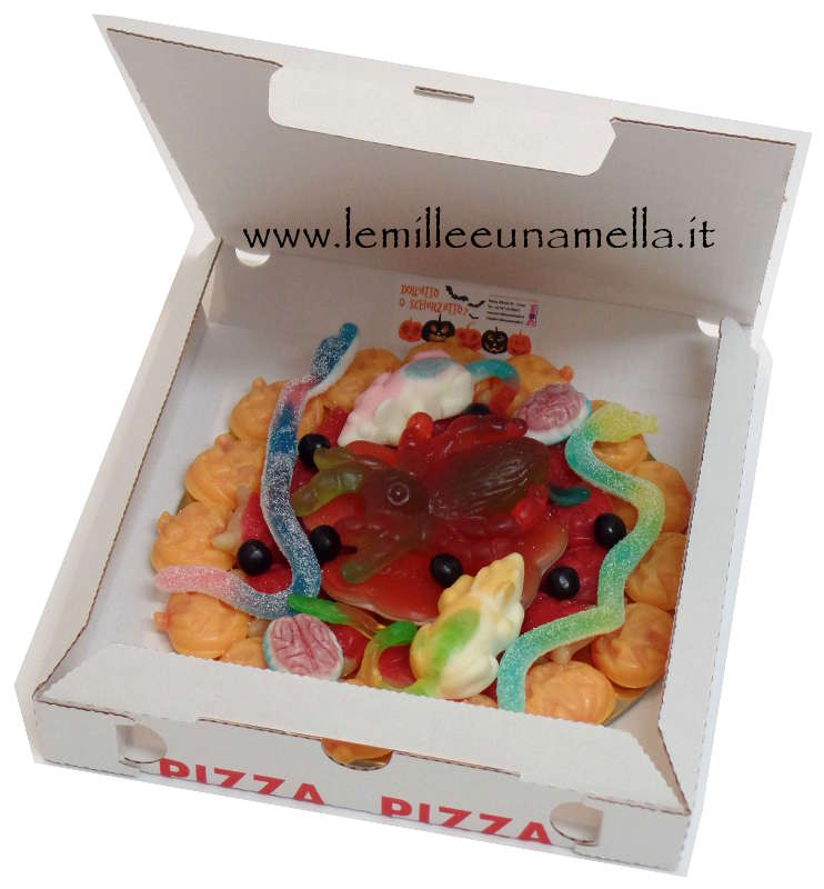 pizza di caramelle Halloween vendita online Le Mille e una Mella