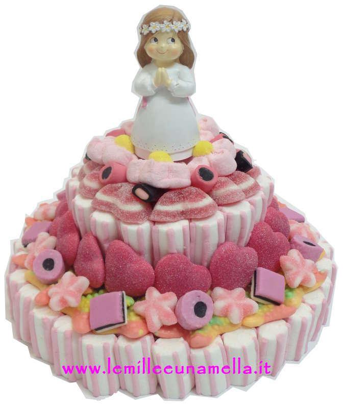 Torta di caramelle a 2 piani base 24cm comunione le for Piani domestici di base