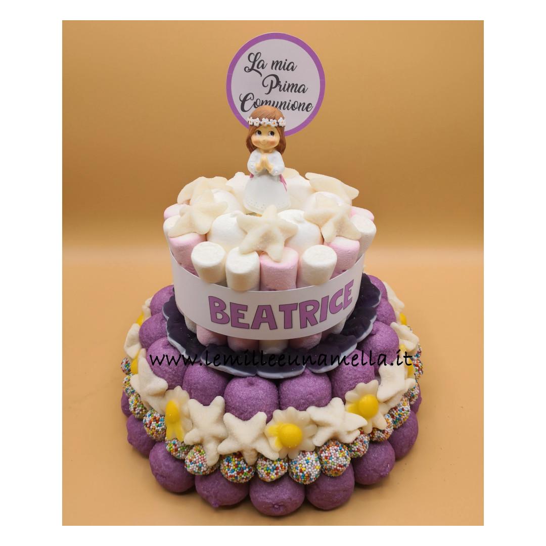 torta di caramelle e marshmallow Prima Comunione vendita online Le Mille e una Mella