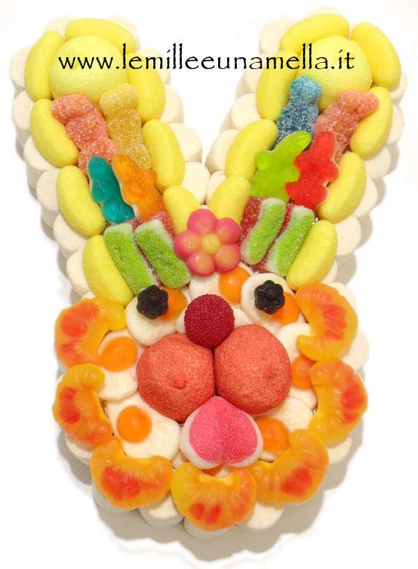 torta di caramelle e marshmallow coniglio Pasqua vendita online Le Mille e una Mella