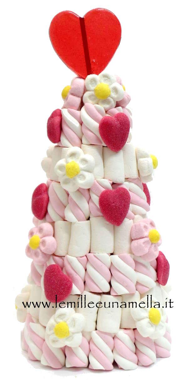 albero piramide di marshmallow artigianale vendita online Le Mille e una Mella