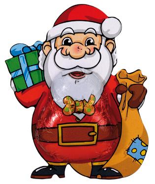 Babbo Natale stagnolato cioccolato Storz vendita online Le Mille e una Mella