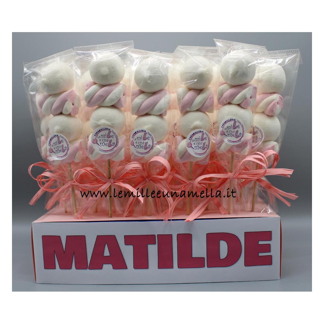 bomboniera marshmallow caramelle Battesimo vendita online Le Mille e una Mella