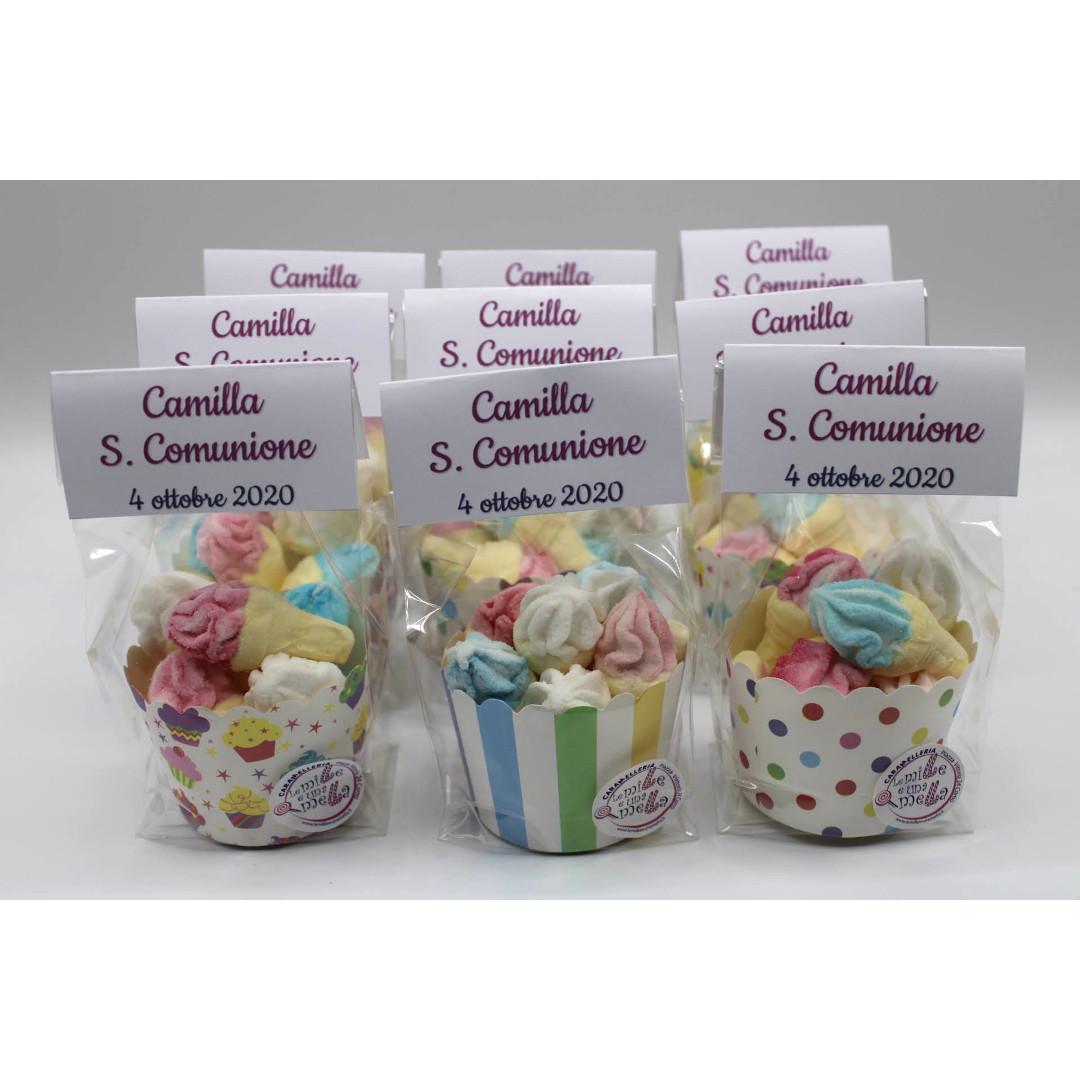 bomboniera marshmallow caramelle Comunione Cresima Battesimo vendita online Le Mille e una Mella