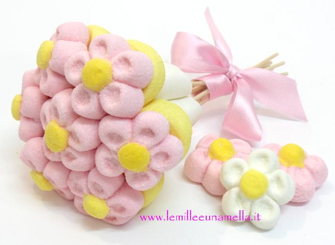 Bouquet margherite piccolo rosa giallo