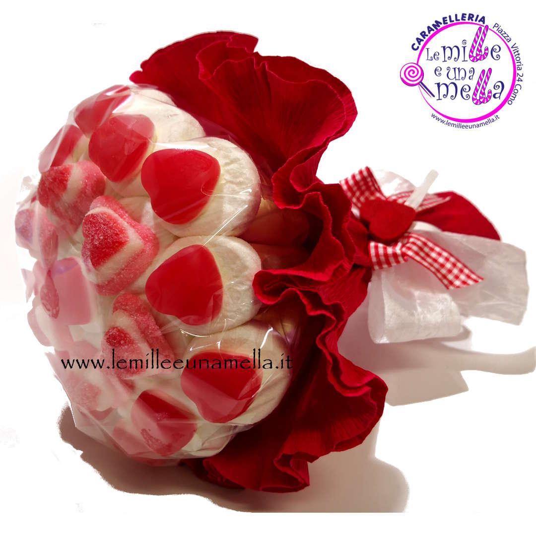 bouquet di marshmallow cuoricini gommosi grande vendita online