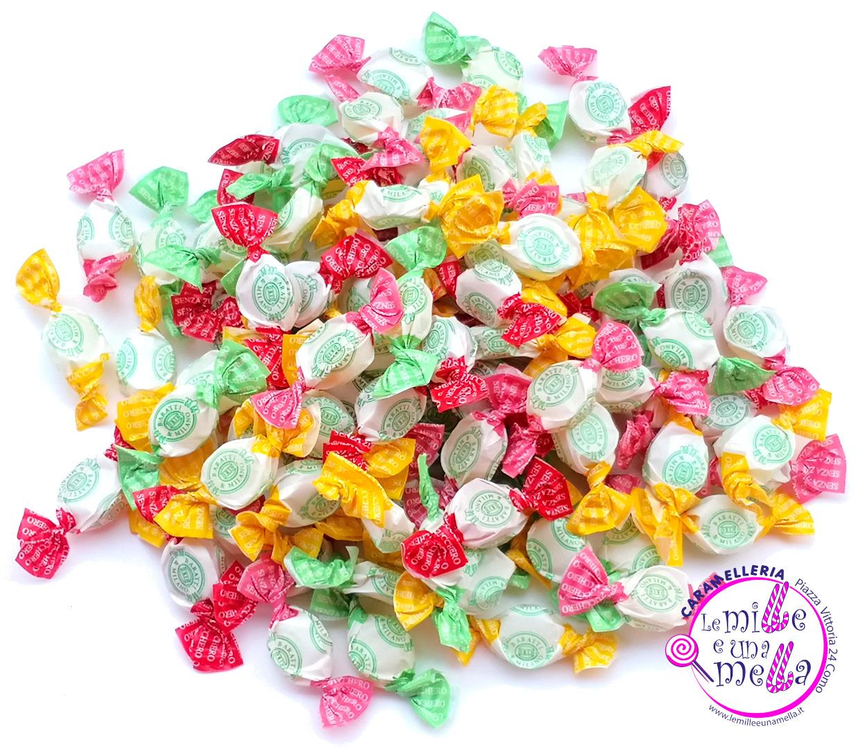 caramelle mini Baratti frutta senza zucchero vendita online