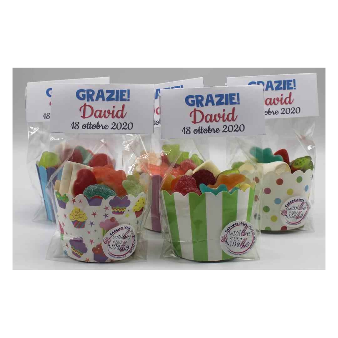 coppette caramelle gommose compleanno regalini fine festa vendita online Le Mille e una Mella