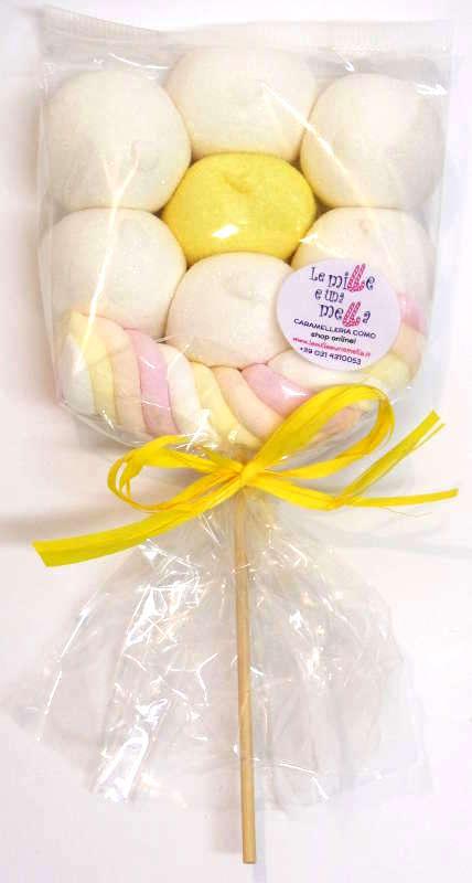 fiori marshmallow, regali fine festa compleanno bambini, vendita online Le Mille e una Mella