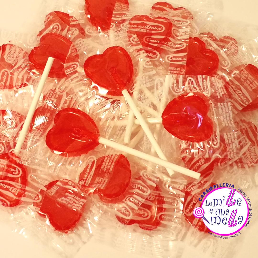 lecca lecca cuori love ciliegia casa del dolce vendita online Le Mille e una Mella