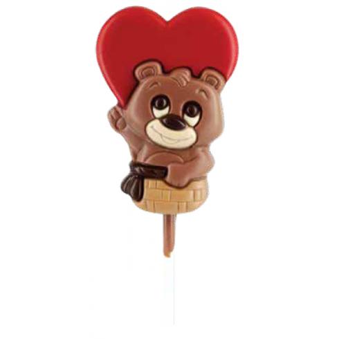 lecca cioccolato San Valentino orsetto cuore vendita online Le Mille e una Mella