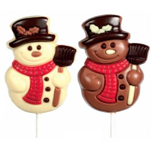 lecca cioccolato Pupazzo di neve Natale Belfine vendita online Le Mille e una Mella