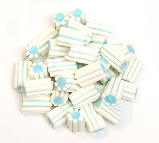 caramelle marshmallow tubo striato azzurro Fini vendita online