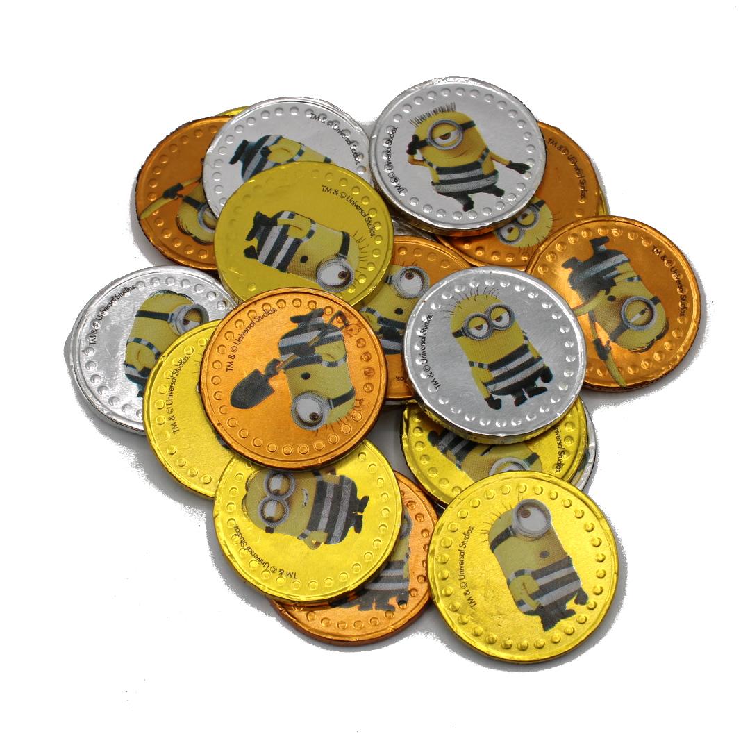 monete di cioccolato al latte MINIONS vendita online Le Mille e una Mella