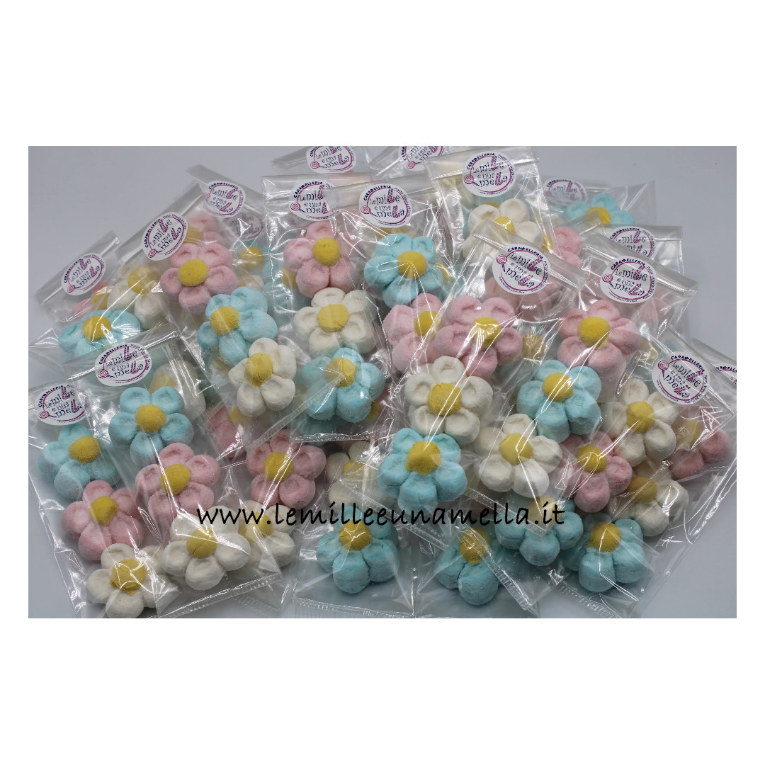 sacchettini margherite marshmallow regalini fine festa bomboniere vendita online Le Mille e una Mella