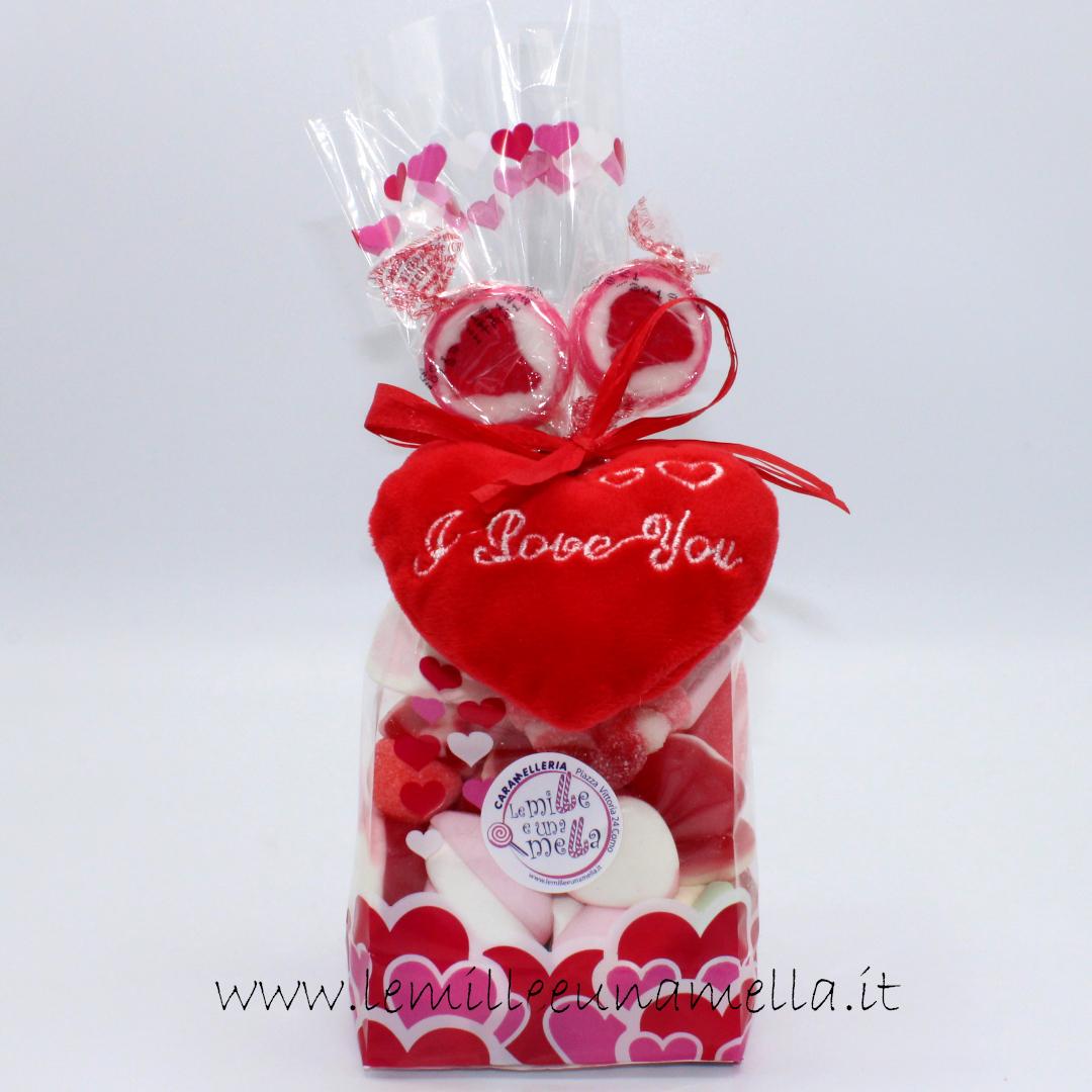 caramelle gommose e marshmallow cuori San Valentino idea regalo vendita online Le Mille e una Mella