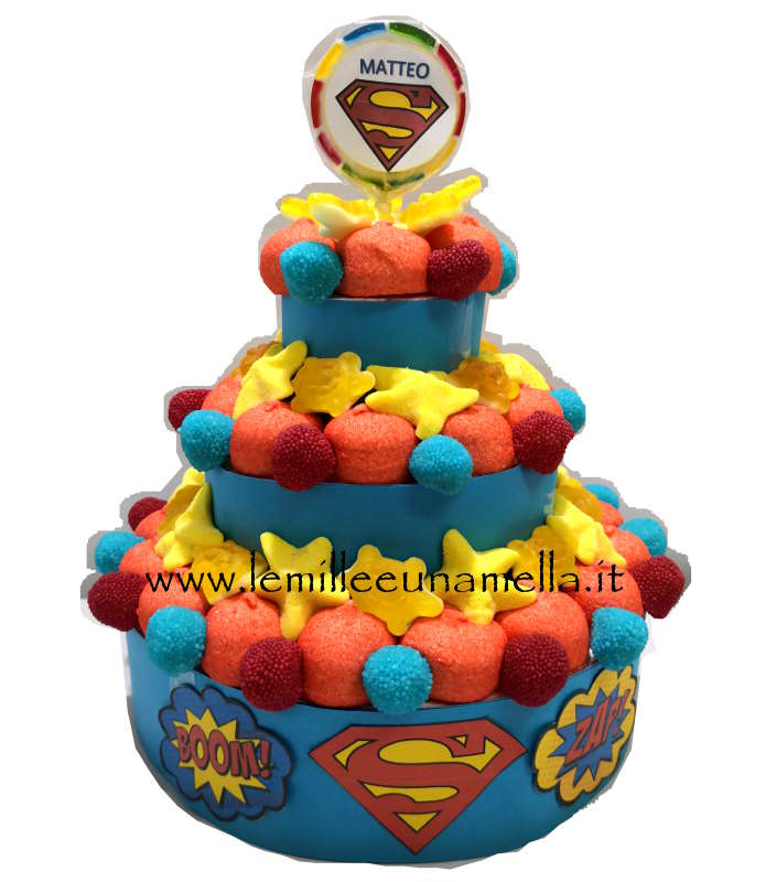 TORTA DI MARSHMALLOW SUPERMAN