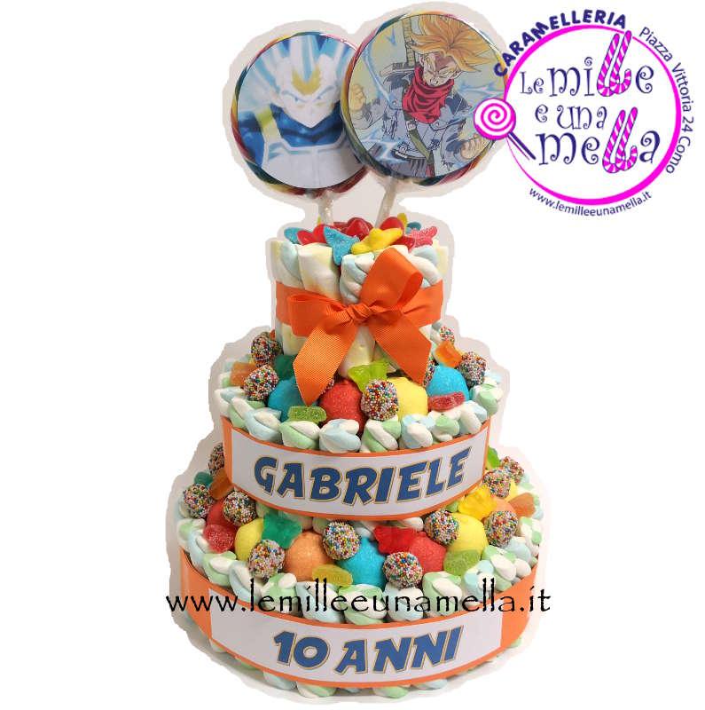 torta di caramelle e marshmallow per compleanno Spiderman, vendita online Le Mille e una Mella