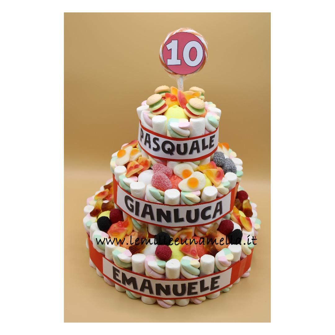 torta di caramelle grande compleanno vendita online Le Mille e una Mella