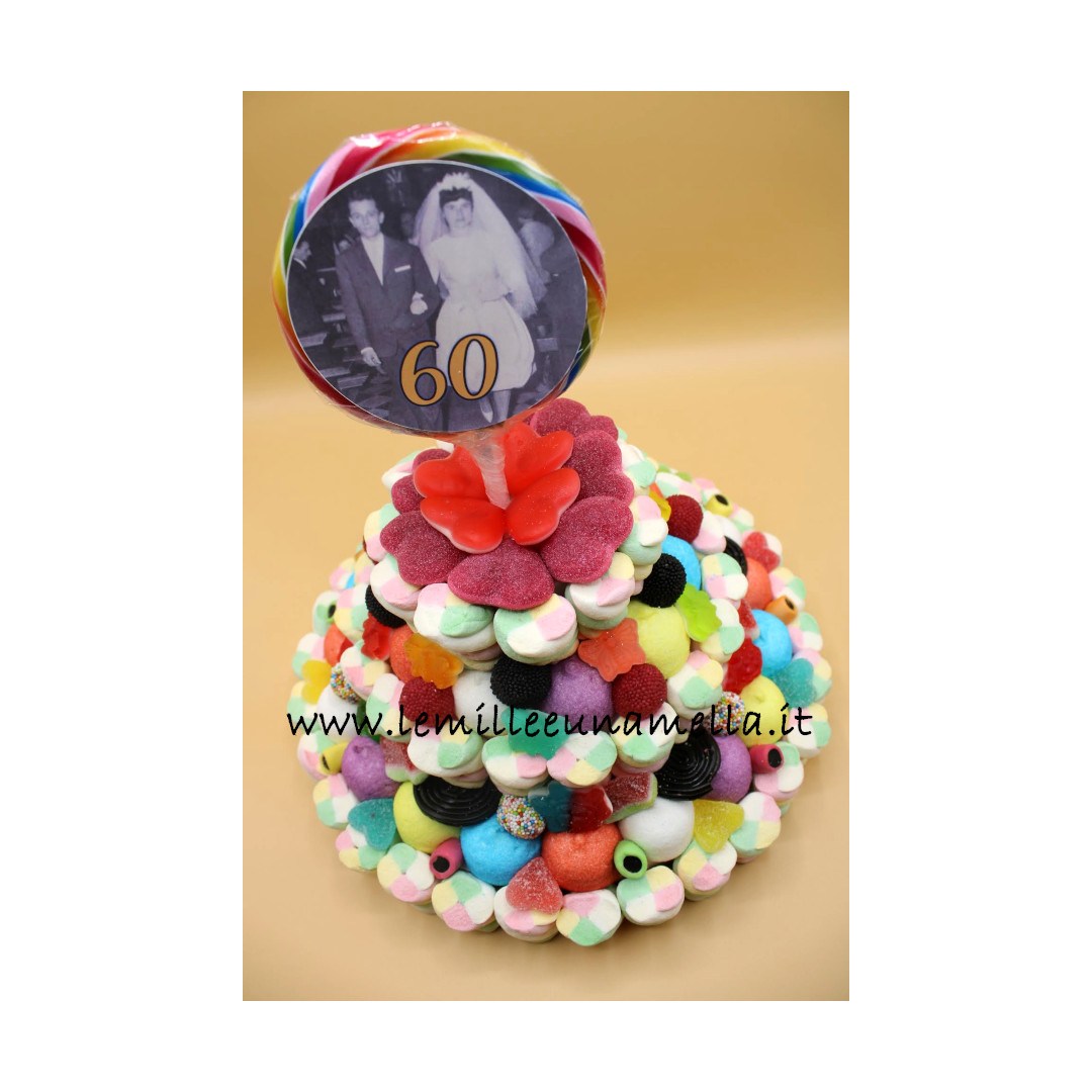 torta di caramelle Anniversario Matrimonio vendita online Le Mille e una Mella
