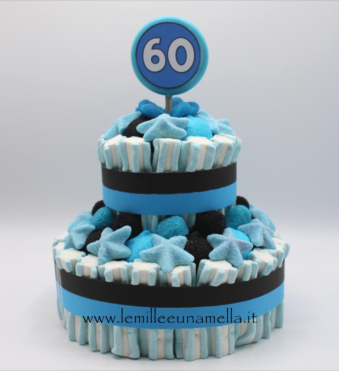 torta di caramelle e marshmallow Calcio Inter vendita online Le Mille e una Mella