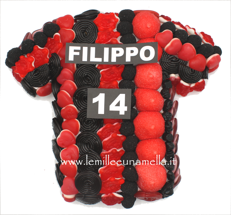 torta di caramelle gomose maglia T-shirt Calcio Milan