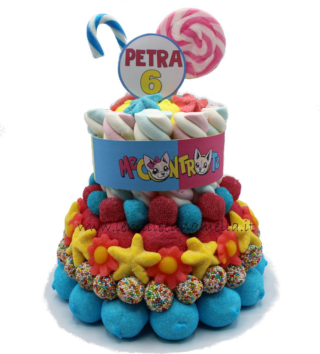 torta di caramelle e marshmallow Me Contro Te vendita online Le Mille e una Mella