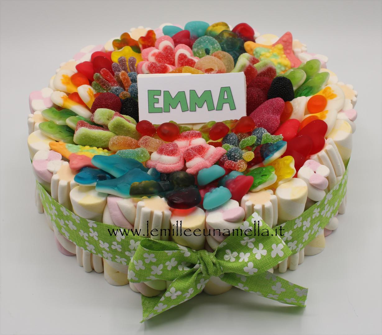 torta di caramelle e marshmallow compleanno bambini vendita online Le Mille e una Mella