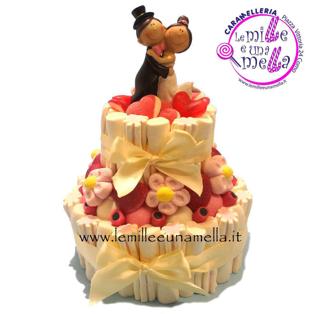 torta nuziale di caramelle e marshmallow, vendita online Le Mille e una Mella